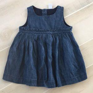 Gap 3-6 months Denim Dress ~ Brand New